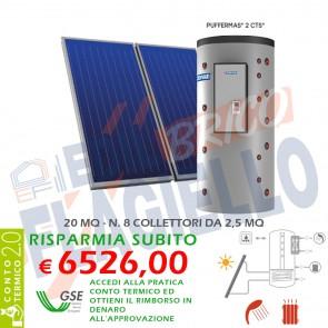 Pannello solare CORDIVARI PUFFERMAS 2 CTS 1500 8X2,5 POWER SISTEMA TERMICO