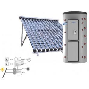 Pannello Solare Sistema Termico Circolazione Forzata Cordivari PUFFERMAS 3 CTS POWER CVT 800 5X15 Acqua Calda Sanitaria E Riscaldamento