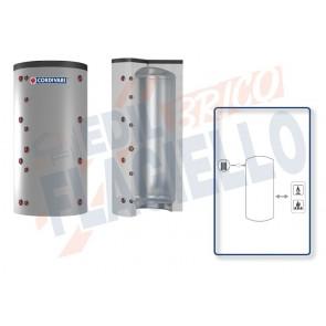 Cordivari Termoaccumulatore Puffer VC da 750 a 5000 per Acqua di Riscaldamento a Coibentazione Morbida Smontabile