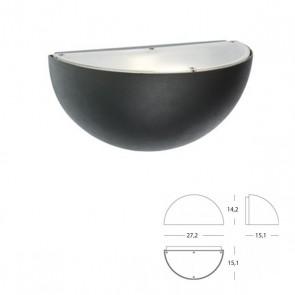 Applique Quarto di Sfera Art. 490/16 Grigio/Alluminio