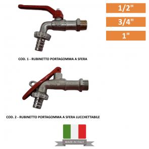 """Rubinetto Portagomma a Sfera da 1/2""""-3/4""""-1"""""""