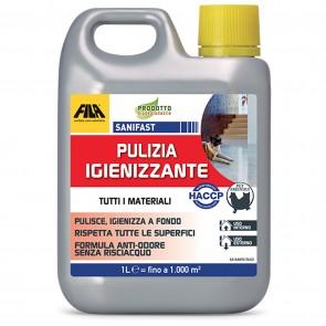 Pulizia Igienizzante FILA SANIFAST 1 LT Detergente Tutti Materiali Idoneo all'HACCP