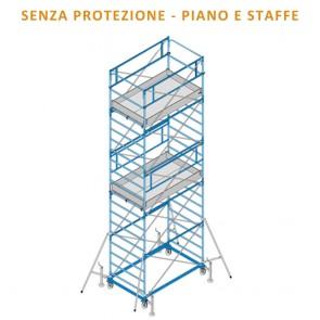 Trabattello FRIGERIO EXPORT 11 Ponteggio Professionale Zincato Base 200x120 Altezza 1365cm