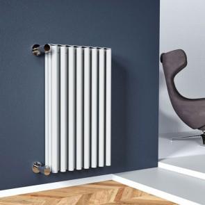 Radiatore Calorifero Da Interno Colore Bianco In Alluminio Termosifone RIDEA BAMBOOO Altezza 1839mm Interasse 1800mm