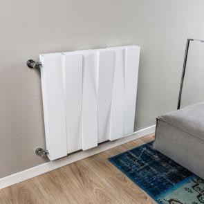 Radiatore Calorifero Da Interno Colore Bianco In Alluminio Termosifone RIDEA PIANO MOVE Altezza 900mm Interasse 800mm