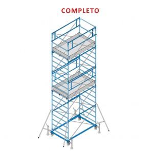 Trabattello FRIGERIO EXPORT 06 Ponteggio Professionale Zincato Base 200x120 Altezza 765cm Completo