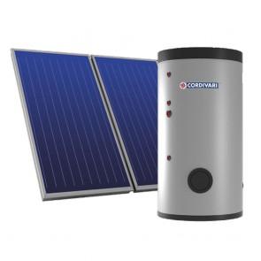 Pannello Solare Sistema Termico Circolazione Forzata Cordivari PUFFERMAS 3 CTS POWER 500 4X2,5 Acqua Calda Sanitaria E Riscaldamento