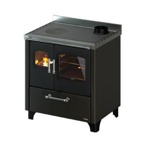 Cucina A Legna In Acciaio E Ghisa CADEL SMART 80 Compresa Di Kit Ventilazione E Luce In Varie Colorazioni