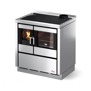 Cucina A Legna CADEL KOOK 80 Con Piano In Ghisa O Vetroceramica Ventilata