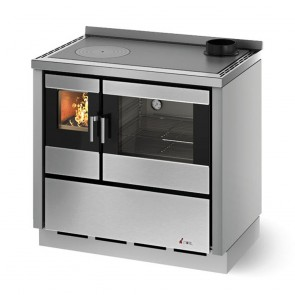 Cucina A Legna CADEL KOOK 90 4.0 Compresa Di Kit Ventilazione E Luce In Varie Colorazioni