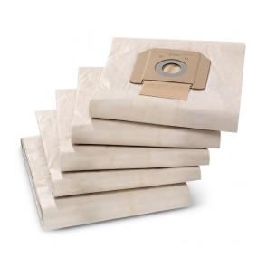 Borse Filtro In Carta Set 5Pz KARCHER NT 48 - 65 - 70 - 72 - 75 - 80  WET VAC