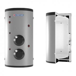 VASO STORAGE 2 CORDIVARI Accumulatore Polywarm Di A.C.S. Con 2 Flangie Cieche Modello Da 200 a 2000 Coibentazione Rigida