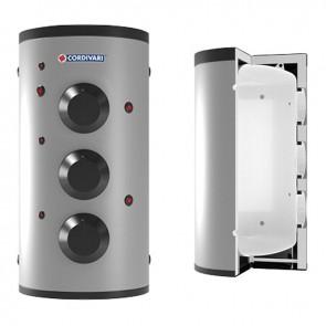 VASO STORAGE 3 CORDIVARI Accumulatore Polywarm Di A.C.S. Con 3 Flangie Cieche Modello Da 500 a 5000 Coibentazione Morbida Smontabile