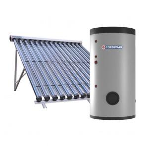 Pannello Solare Sistema Termico Circolazione Forzata Cordivari B2 SLIM CLASSE A CVT 200 1x10 Acqua Calda Sanitaria E Riscaldamento
