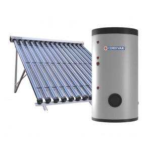 Pannello Solare Sistema Termico Circolazione Forzata Cordivari B2 SLIM CLASSE A CVT 500 2x15 Acqua Calda Sanitaria E Riscaldamento