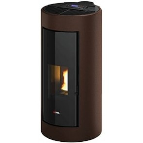 Stufe a Pellet ad Aria Cadel SHELL³ UP 9,1kW Rivestimento Metallo Dark Bronze