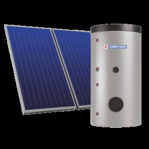 Pannello Solare Cordivari B2 XL 200 1x2,5 Falda Piano Incasso Circolazione Forzata Sanitaria Doppio Scambio Integrazione Pompa Calore o Caldaia