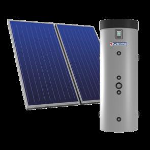 Pannello Solare Sistema Termico Circolazione Forzata Cordivari PUFFERMAS 2 DOMUS 300 4x2,5 Acqua Calda Sanitaria