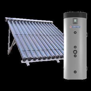 Pannello Solare Sistema Termico Circolazione Forzata Cordivari PUFFERMAS 2 DOMUS CVT 300 2x15 Acqua Calda Sanitaria