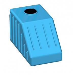Serbatoio da esterno polietilene stoccaggio acqua SOTTOSCALA Rototec litri 500