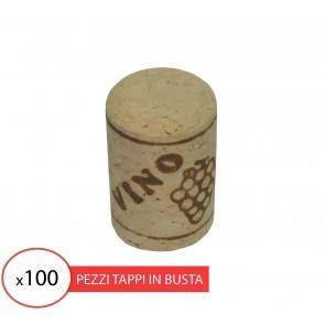Tappo sughero agglomerato 26x40 per vino (100 pz)