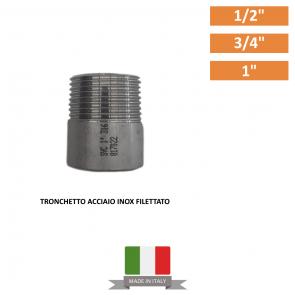 """TRONCHETTO FILETTATO ACCIAIO INOX DA 1/2"""" A 1"""""""