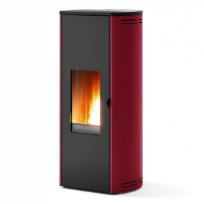Stufa a Pellet RED Tulip Bordeaux