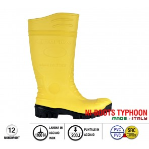 Scarpa da Lavoro Antinfortunistica Cofra TYPHOON YELLOW/BLACK S5 SRC taglie 39 - 47