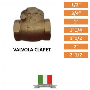 """Valvola Clapet da 1/2""""-3/4""""-1""""-1""""1/4-1""""1/2-2""""-2""""1/2"""