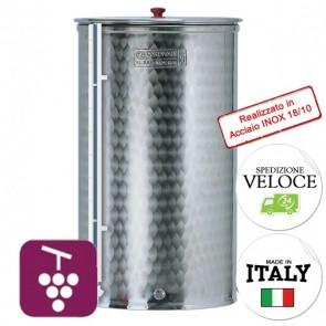 Contenitore VINO Cordivari VINOLIO CON LIVELLO VISIVO 200 lt INOX 18/10 Per Alimenti