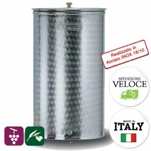 Contenitore OLIO VINO Cordivari VINOLIO DIAMETRO 515 200 lt INOX 18/10 Per Alimenti