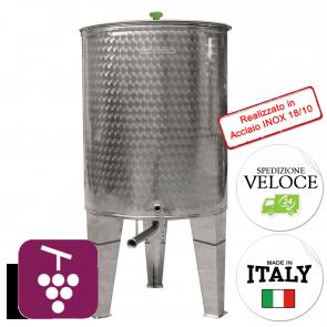 Contenitore VINO Cordivari VINOLIO FONDO CONICO 1000 lt INOX 18/10 Per Alimenti