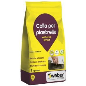 Colla per Piastrelle Webercol Smart 5kg Grigio/Bianco