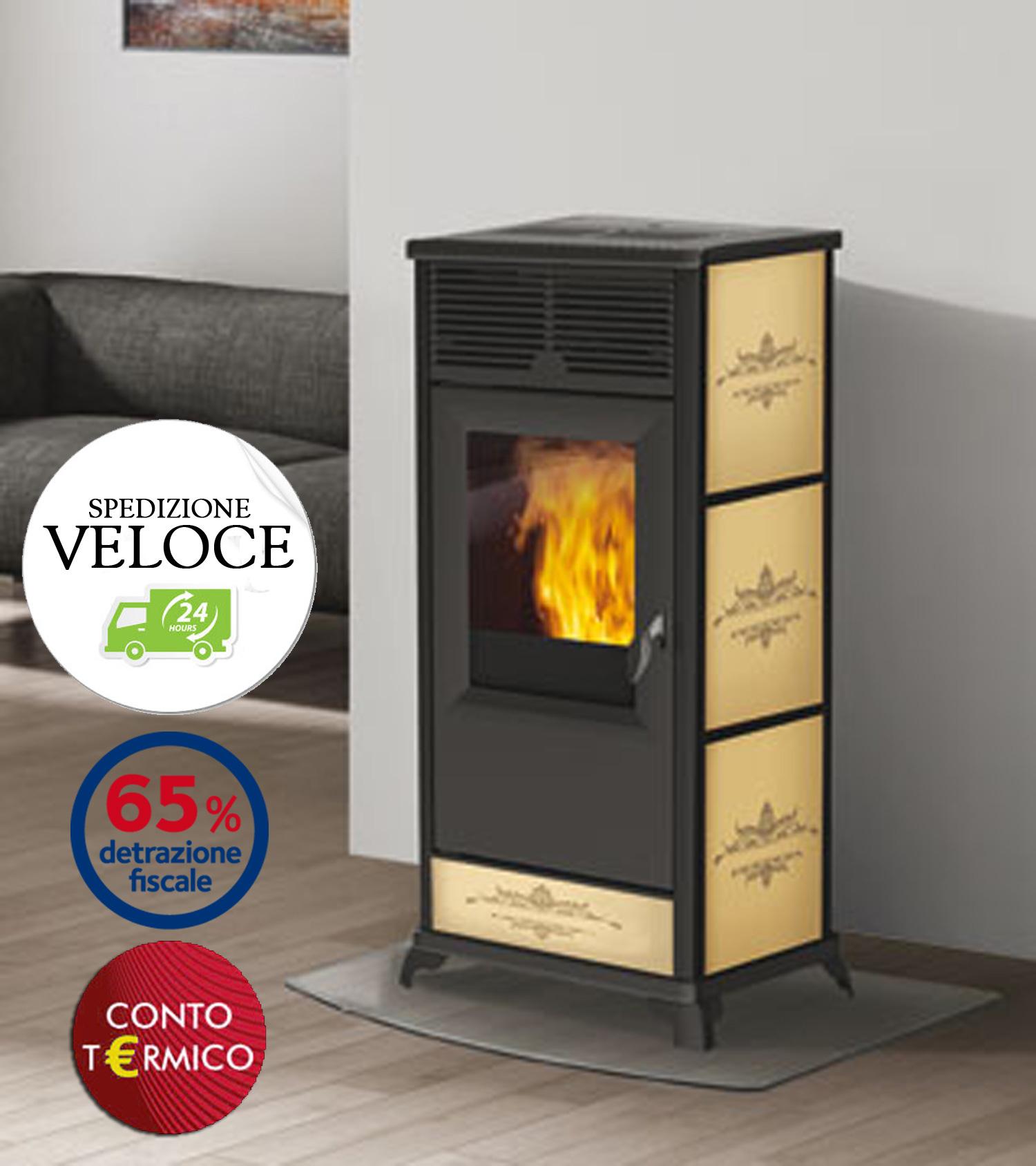 Termostufa a pellet italiana camini idropolis 15 kw stufa idro - Stufa a pellet termosifoni ...