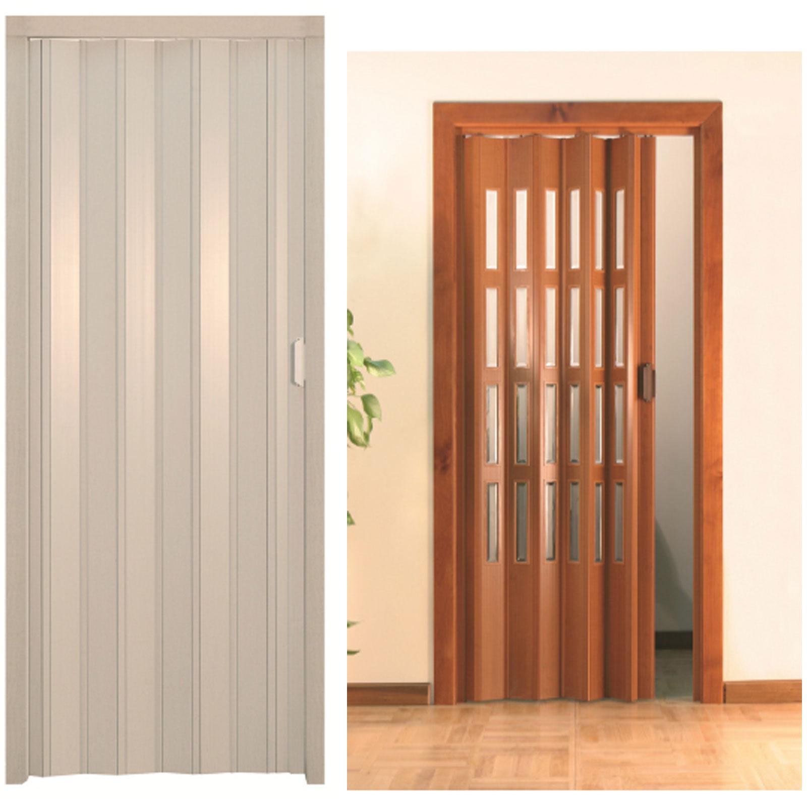 Porta a soffietto in pvc con o senza vetri dimensioni - Porta a soffietto ikea ...