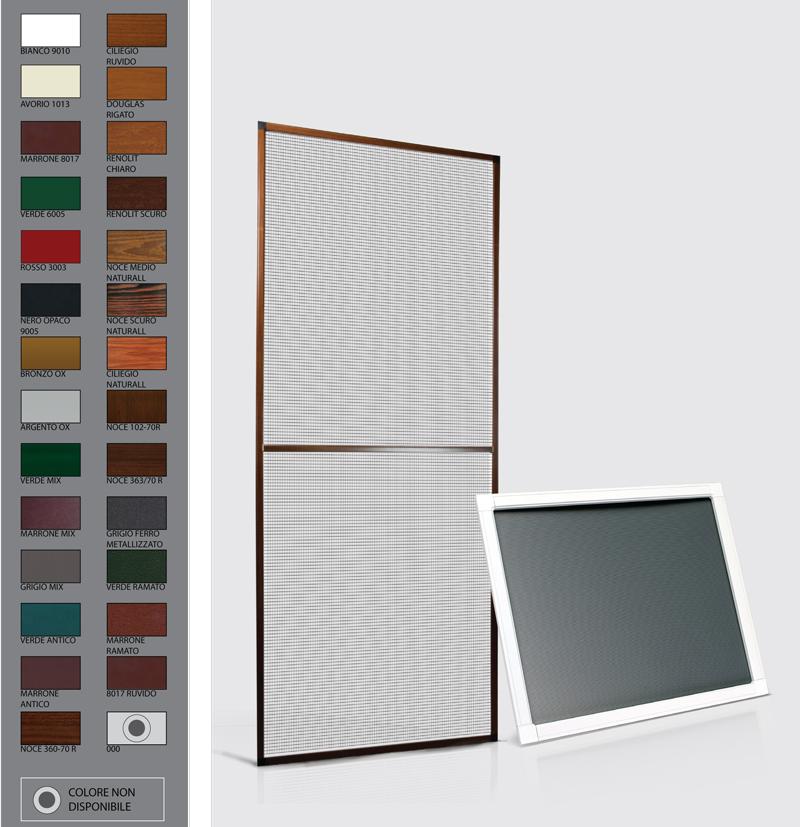 Zanzariera sagittario pannello fisso porta e finestra for Costo del solarium per piede quadrato