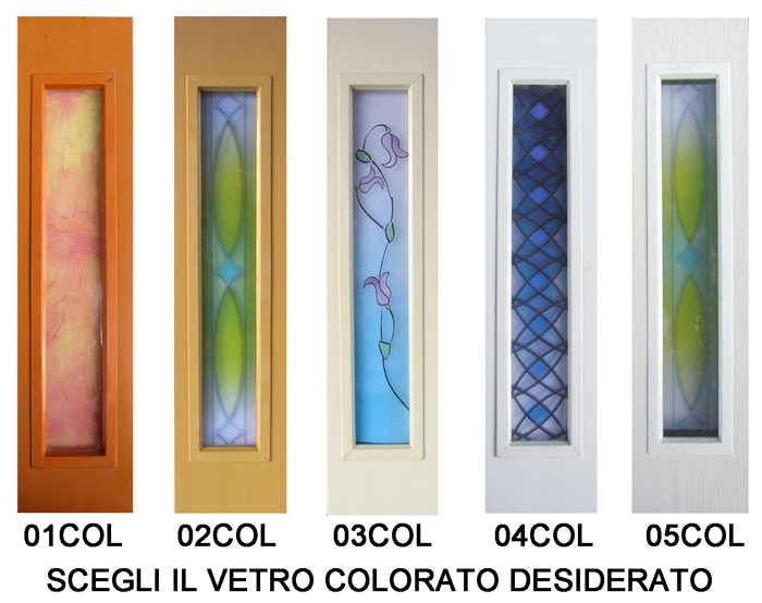 Porte con vetri colorati - Porte a soffietto colorate ...