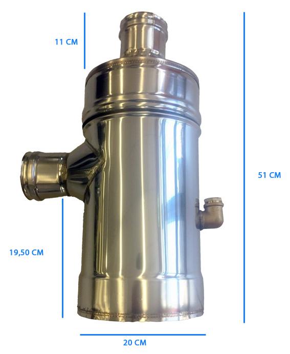 Abbattitore di fumi ad acqua per stufe a pellet e legna for Abbattitore di fuliggine stufe a pellet filtro fumo